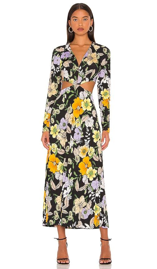 AFRM Assi Dress in Noir Vintage Floral   REVOLVE