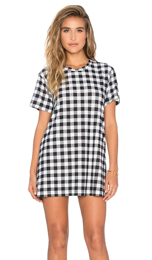 A Fine Line Everyday Tee Dress in Plaid