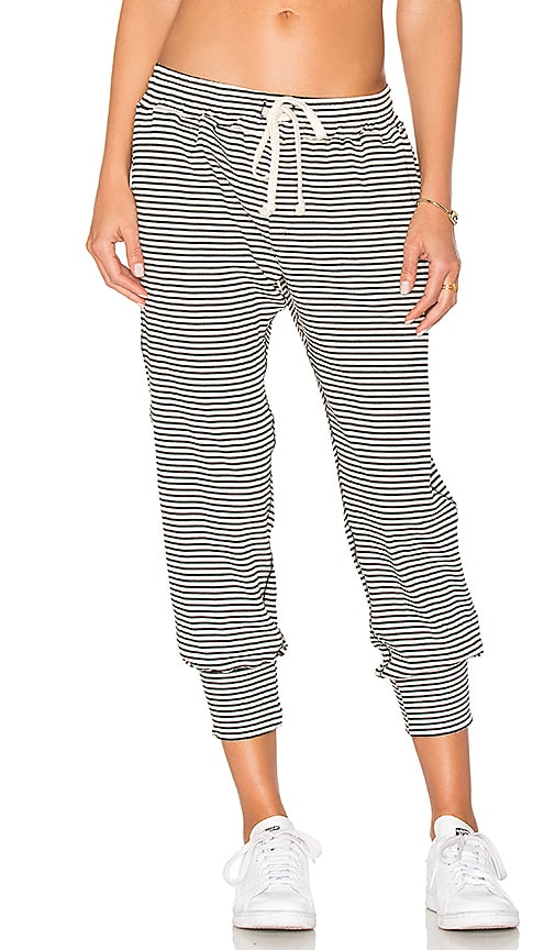 A Fine Line Varsity Stripe Pant in White