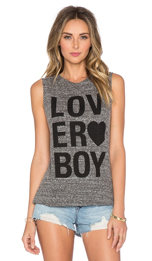 A Fine Line Loverboy Abby Tank in Heather Grey
