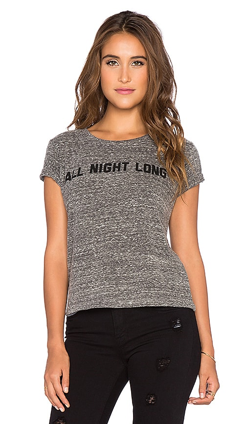 A Fine Line All Night Long Brothers Crop Tee in Heather Grey