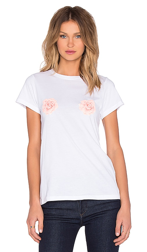 A Fine Line Peeking Roses Hastings Tee in White