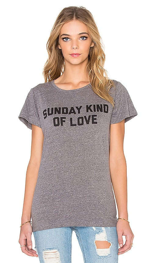 A Fine Line Sunday Kind of Love Hastings Tee in Heather Grey