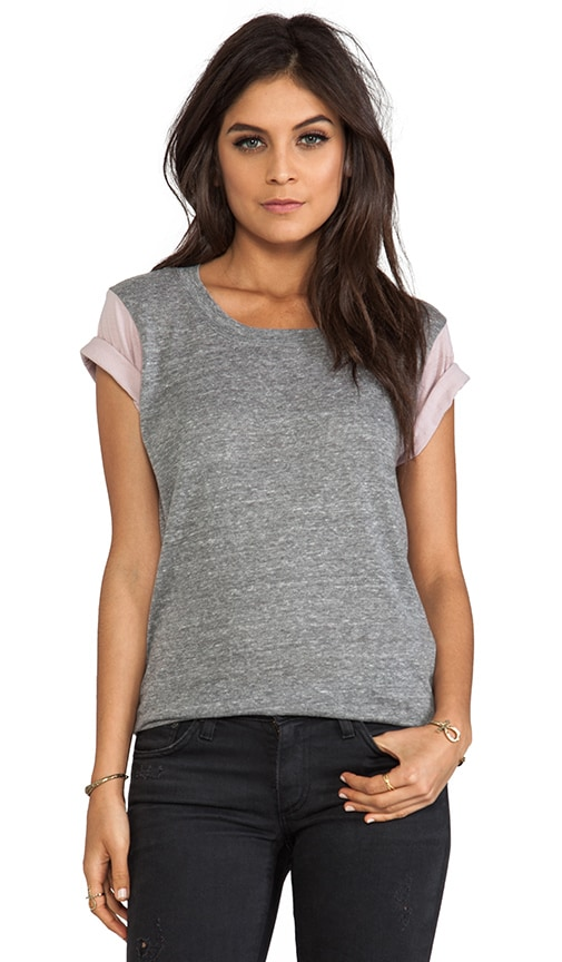 Andie Colorblock Sleeve Tee