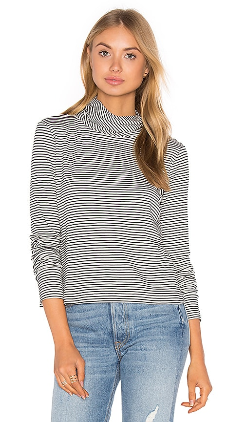 A Fine Line Lucy Turtleneck Tee in Black & White