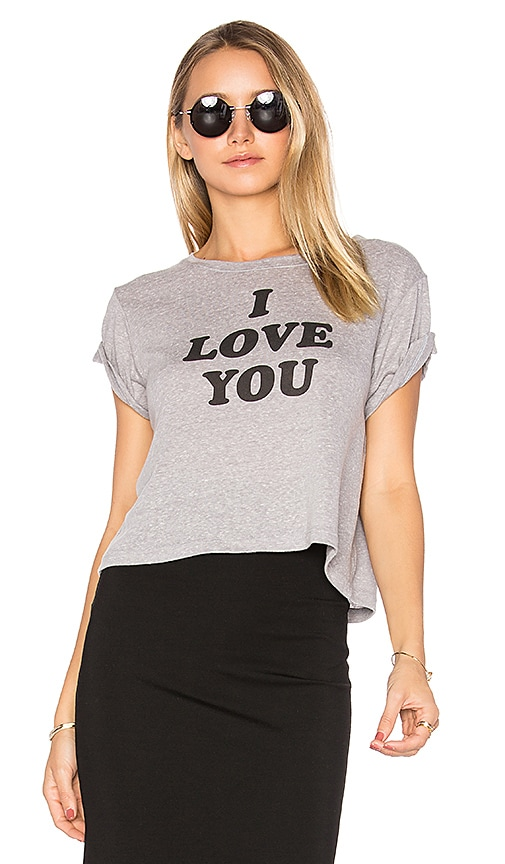 Brothers 'I Love You Sometimes' Cropped Tee