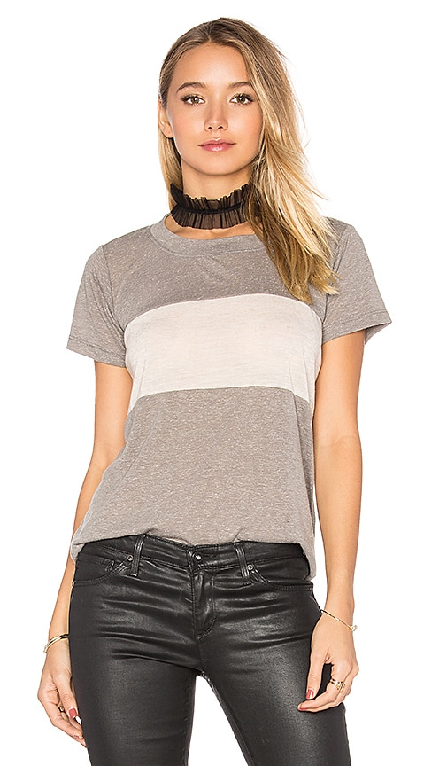 A Fine Line Davy Tee in Taupe