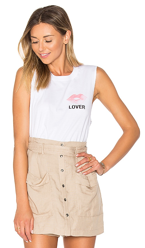 A Fine Line Lover Abby Tank in White