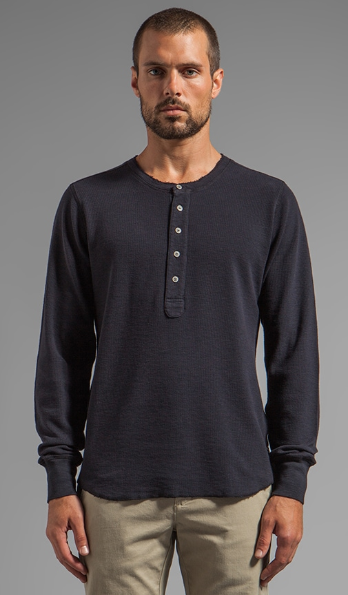 Raw Edge Henley