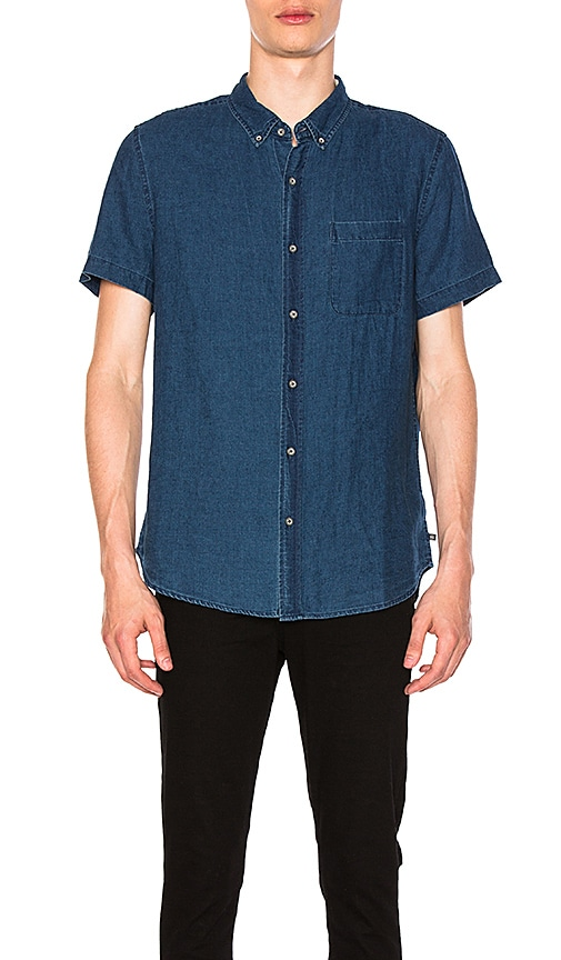 AG Adriano Goldschmied Nash Short Sleeve Shirt in Fender