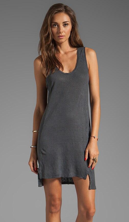 Linen Jersey Paneled Tank Dress
