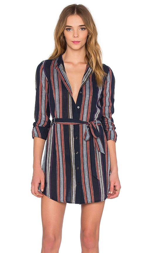 AG Adriano Goldschmied Jett Dress in Blue Night Stripe