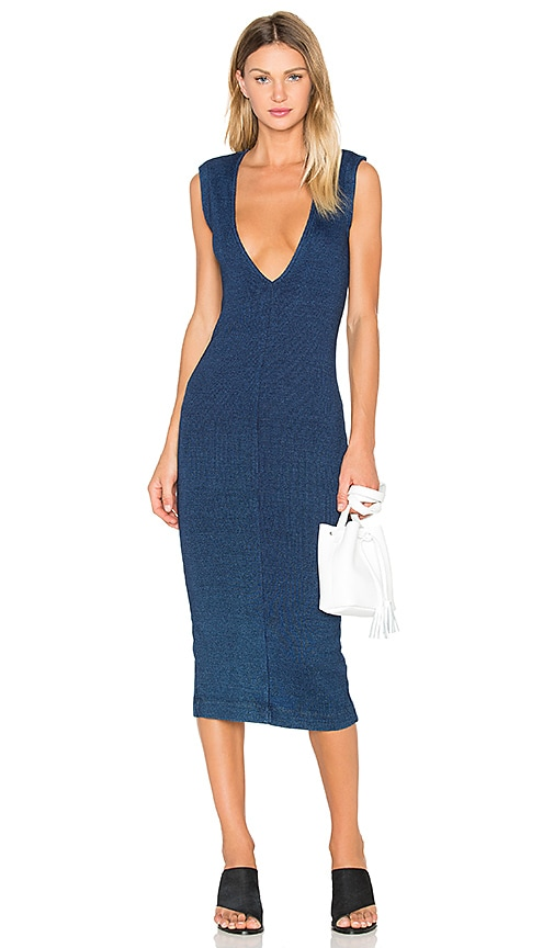 AG Adriano Goldschmied CAPSULE Pi Dress in Navy