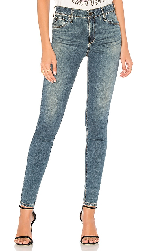 Farrah Skinny Ankle Jeans In 18 Years Cruising, Bungalow Blue