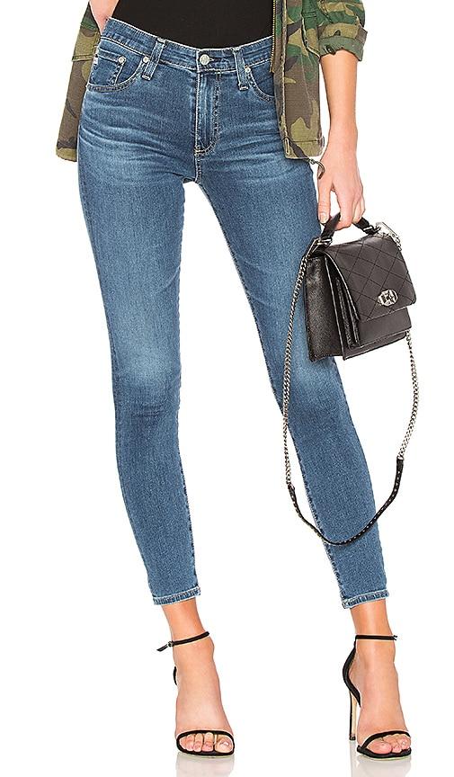 AG Adriano Goldschmied Farrah Skinny Ankle Jean in Blue