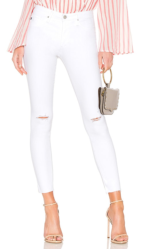 AG Adriano Goldschmied Farrah Skinny Ankle Jean in Uncharted White