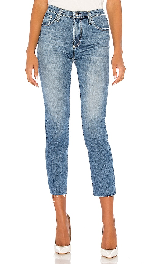 AG Adriano Goldschmied Womens The Isabelle Vintage Straight Leg Crop Jean