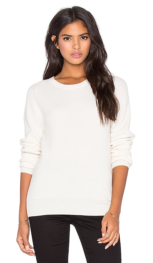 AG Adriano Goldschmied Rylea Crew Neck Sweater in Powder White