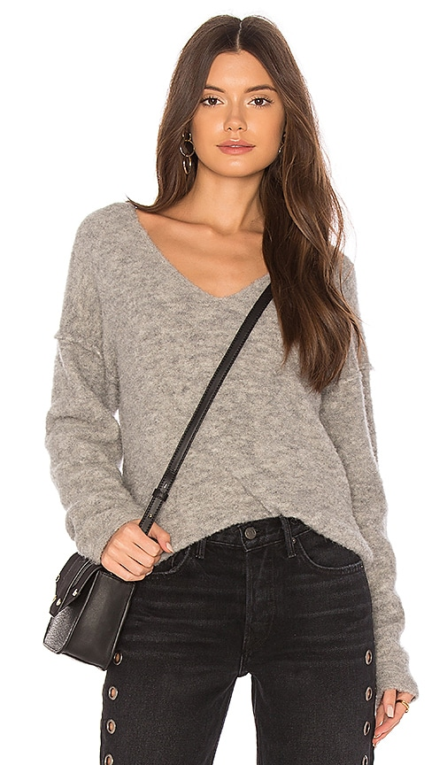 AG Adriano Goldschmied Skye V-Neck Sweater in Gray