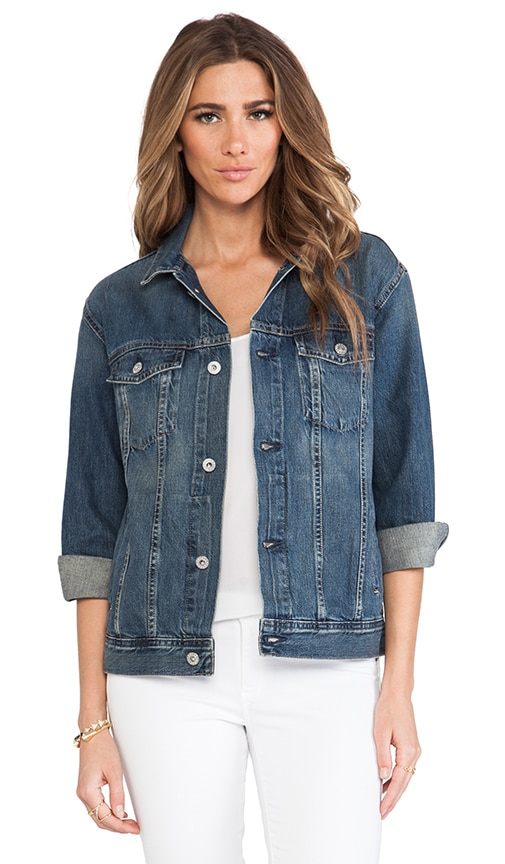 The Nancy Drop Shoulder Denim Jacket