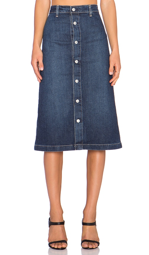 ag adriano goldschmied x chung cool denim skirt in