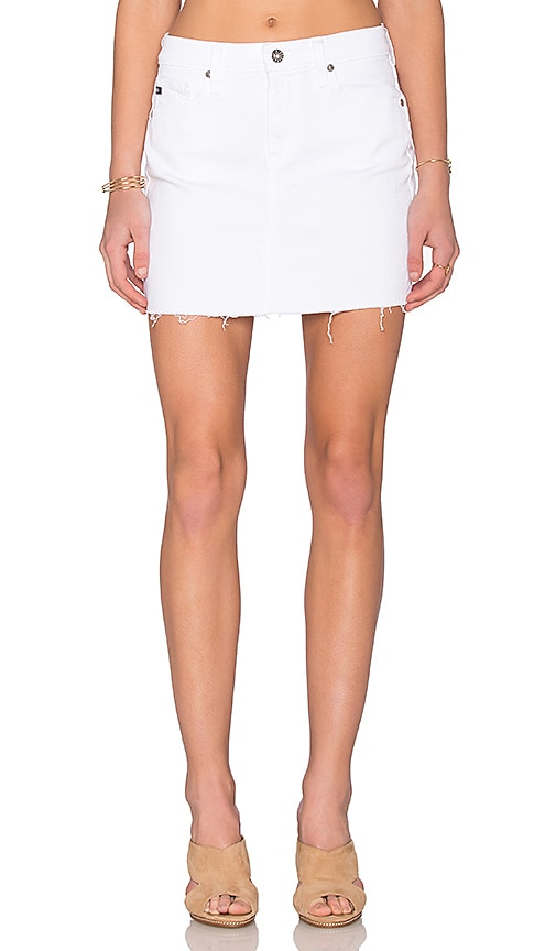 AG Adriano Goldschmied Sandy Mini Skirt in White