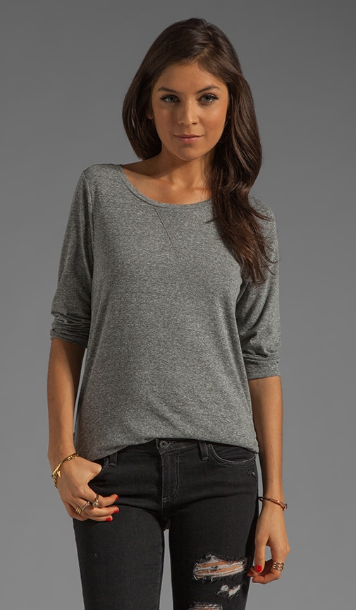 3/4 Sleeve Scoop Neck