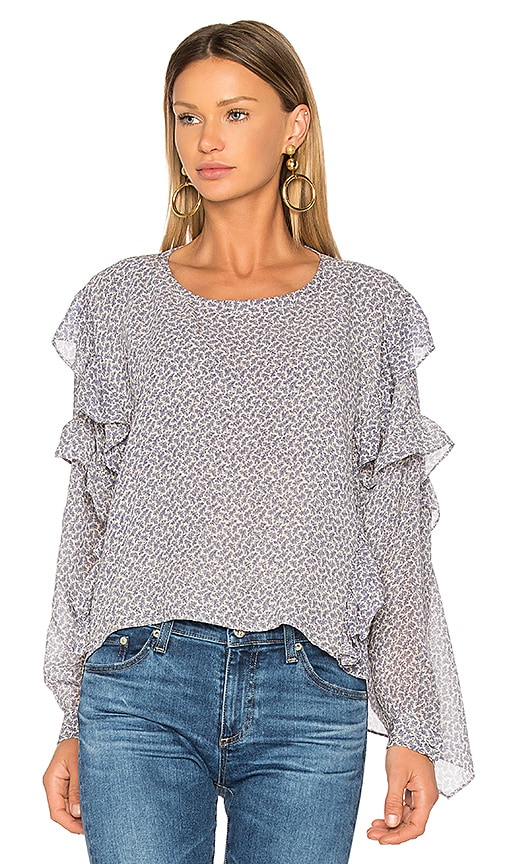 AG Adriano Goldschmied Bijou Blouse in Blue