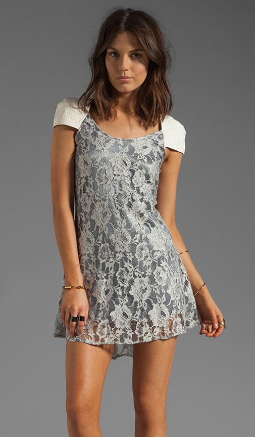 Bouvier Lambskin Leather Detailed Lace Dress