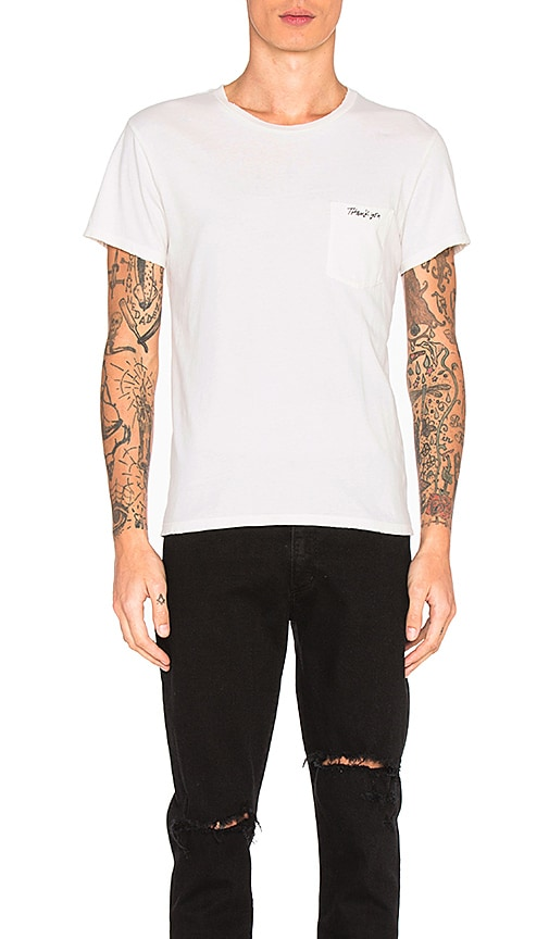 AGOLDE Pocket Tee in White