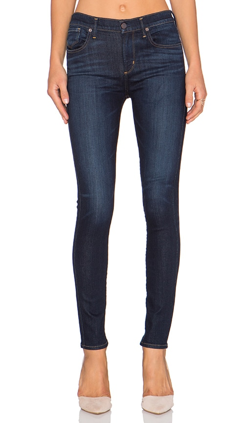 A Gold E Sophie High Rise Skinny in Abyss