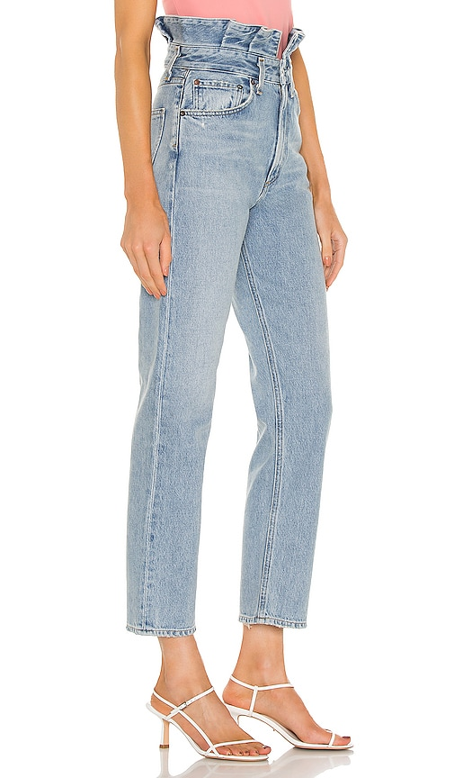 AGOLDE Pants Lettuce Waistband Reworked High Rise Fitted 90s