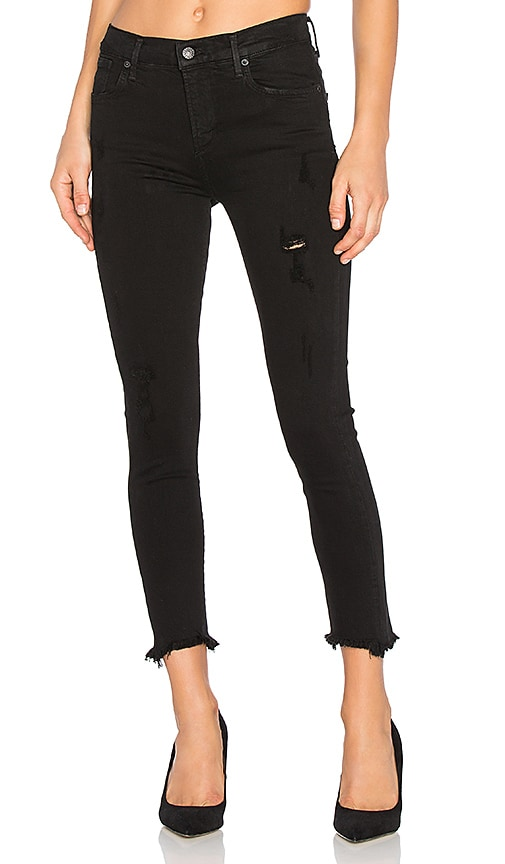 AGOLDE Sophie High Rise Crop Skinny in Harlow Destructed