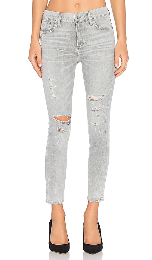 AGOLDE Sophie High Rise Crop Skinny in Portland Destructed