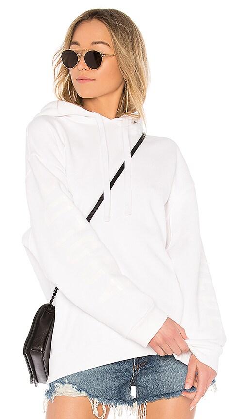 AGOLDE Logo Print Hoodie in White