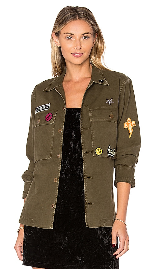 AGOLDE x REVOLVE Stella Utility Shirt Jacket in Olive