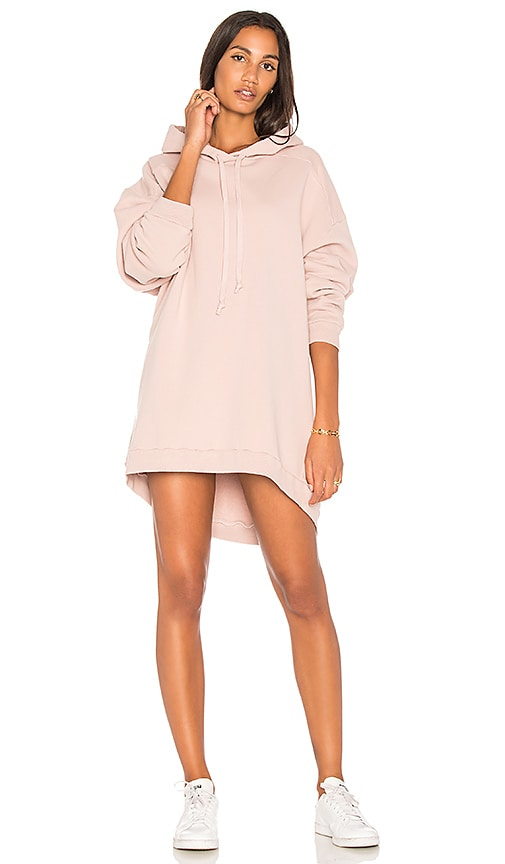 AGOLDE High Low Hoodie in Pink