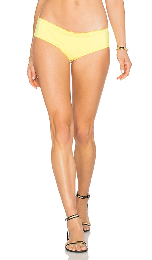Agua Bendita Singular Hipster Bikini Bottom in Yellow