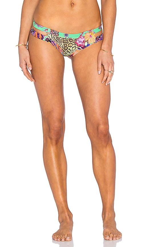 Agua Bendita Dancing Butterflies Bendito Monarca Bikini Bottom in Green
