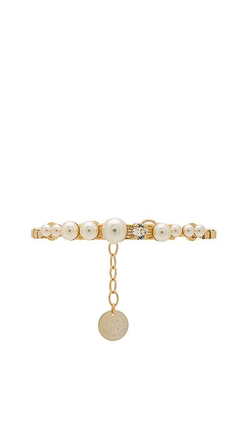 Anton Heunis Cream Pearls Bracelet in Metallic Gold