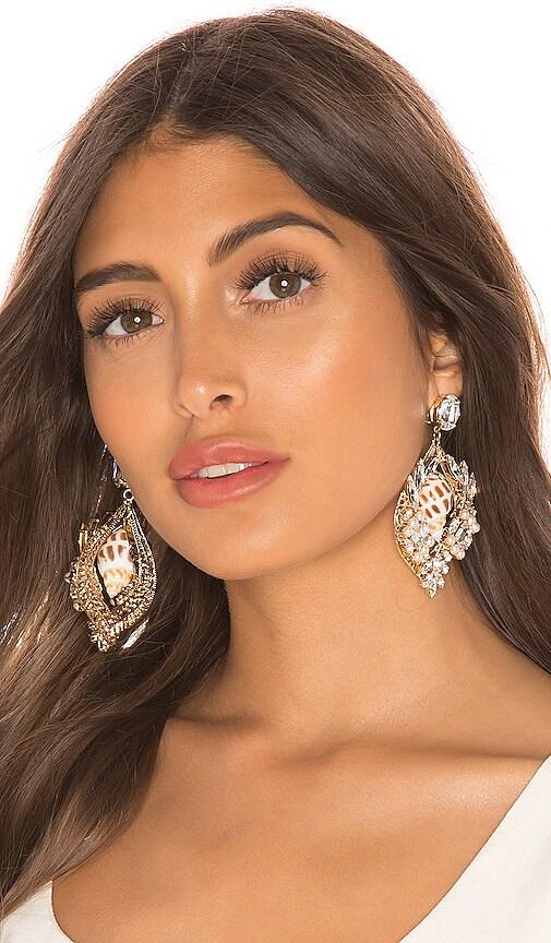Large Cluster Shell Earrings