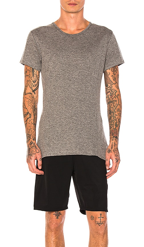 Athletic Propulsion Labs: APL Wool/Cotton Blend Tee in Gray
