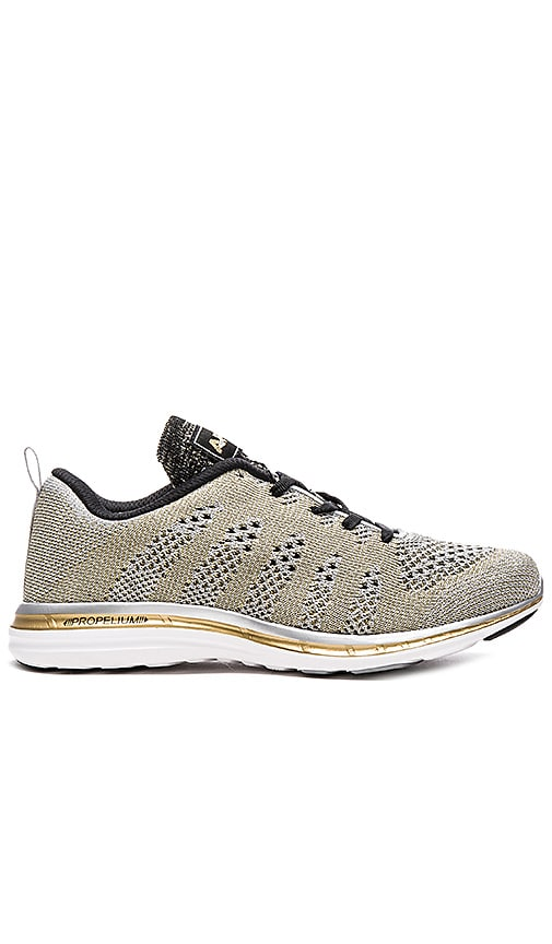 Athletic Propulsion Labs: APL TechLoom Pro Sneaker in Metallic Gold