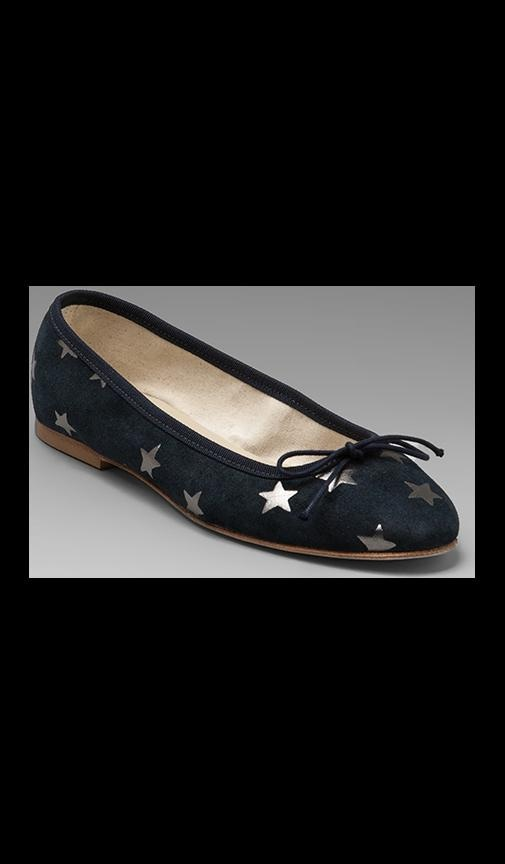 newest 32be1 0baa2 Anniel Ballet Flat in Dark Blue Grey Stars from Revolve.com