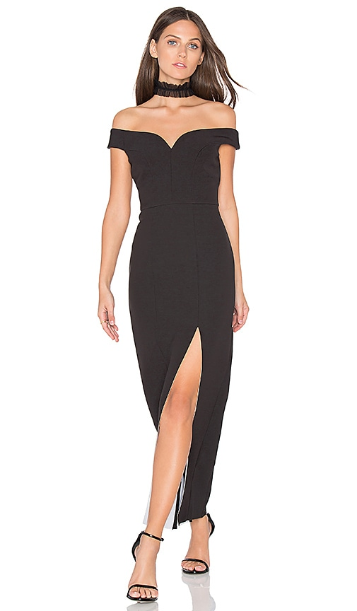 aijek Gelsey Sweetheart Maxi Dress in Black