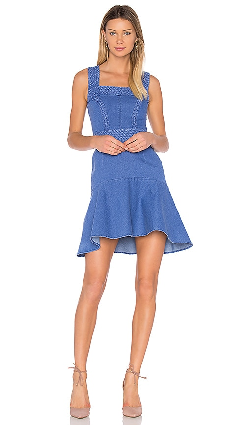 aijek Haile Fit Flare Dress in Blue
