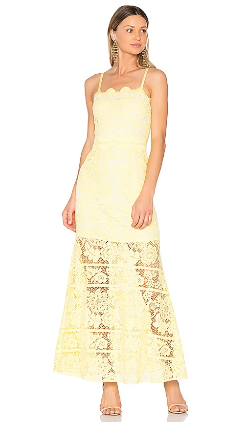 aijek Andrea Maxi Dress in Yellow