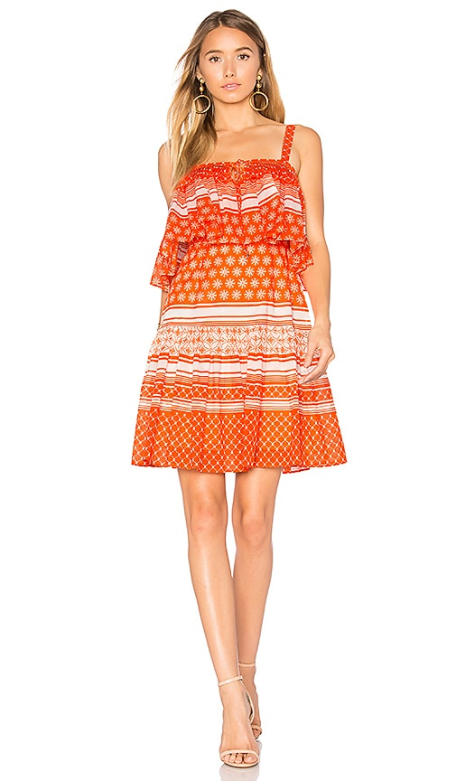 aijek Pias Mini Dress in Orange