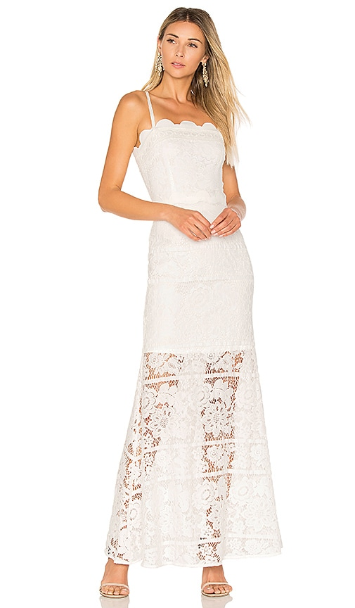 aijek Andrea Maxi Dress in White