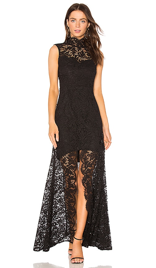 aijek Coretta Lace Gown in Black | REVOLVE